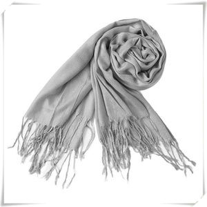 Accessories - Pashmina scarf shawl in light grey NWOT